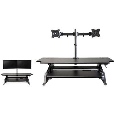 Poste de travail assis-debout HD 42'' Noir Volante avec un